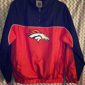 Vintage Denver Broncos windbreaker with small flaw